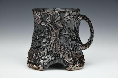Arch Black Floral Mug
