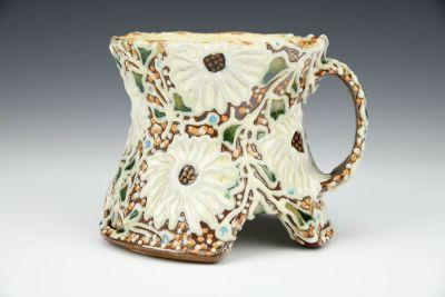 Arched Rudbeckia and Ginko Leaves Mug