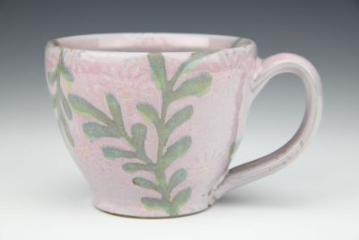 Pink Cup with Leaves
