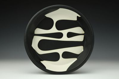 Black and White Pie Plate