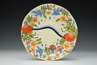 Two Pots Pouring Plate