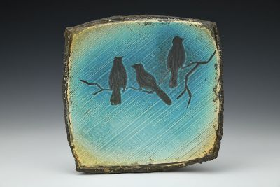 Carved Square Plate
