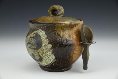 Brushwork Lidded Jar with Scoop