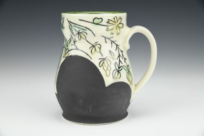 Green and Yellow Herb Mug
