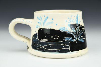 Angry Whale School Mug