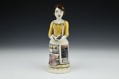 Sophia Brunette Figure with Library