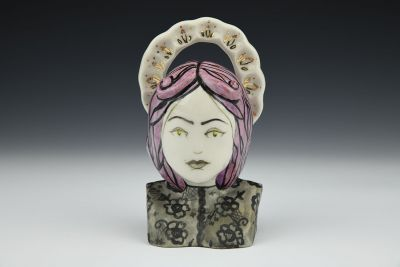 Persephone Purple Haired Bust with Halo