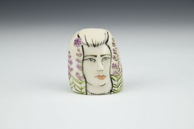 Little Lady Head with Lavender