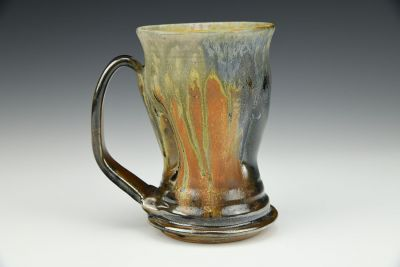 Column Mug with Orange