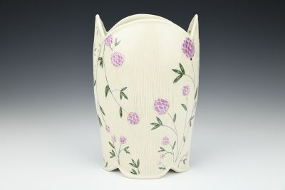 Purple Floral Vase