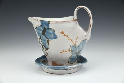 Blue and Grey Floral Gravy Boat Set
