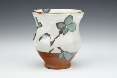 Blue Floral Cup with Branches