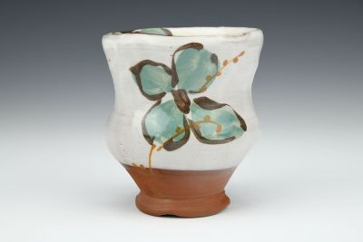 Teal Floral Cup with Willows