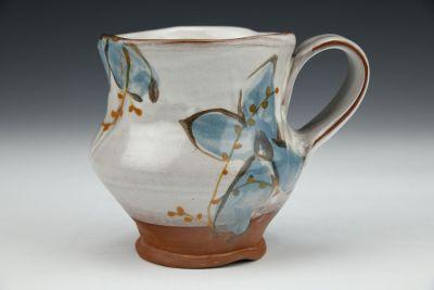 Petal Mug with Blue Flowers