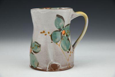 Mug with Teal and Orange Flowers