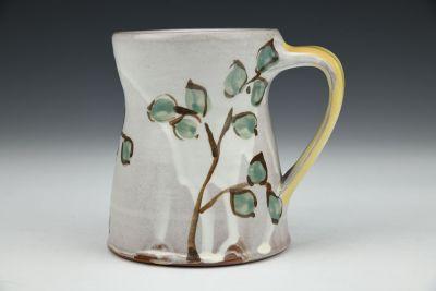 Mug with Teal Leaves