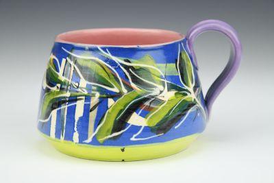 Multi-Colored Blue Cup