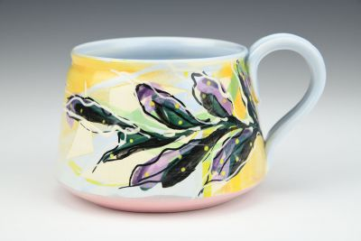 Multi-Colored Yellow Cup