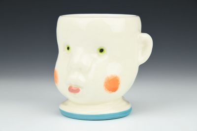 Turquoise Doll Head Cup