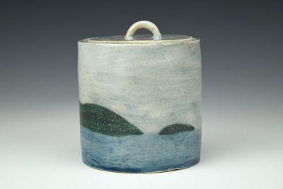 Rising Tides Lidded Pot