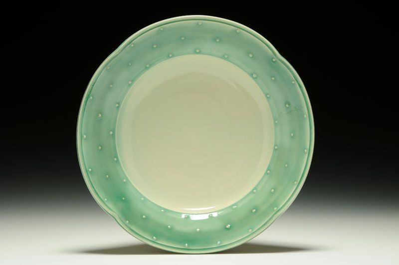 Small Dot Pattern Serving Platter