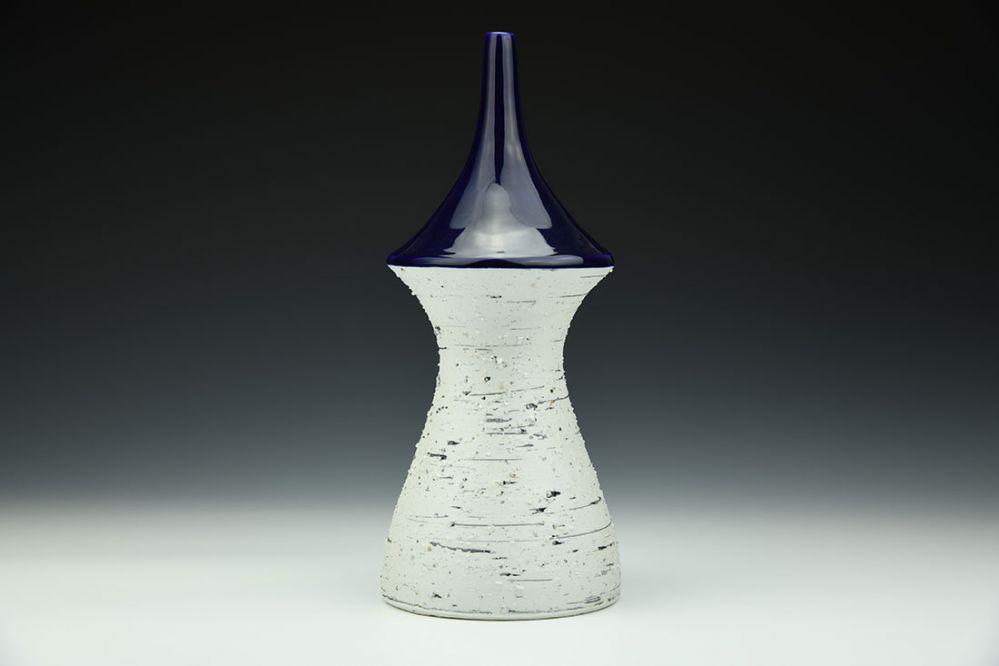 Cobalt and Feldspar Tall Bottle