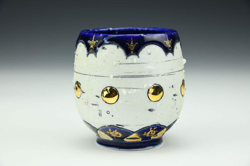 Cobalt Tulip Cup