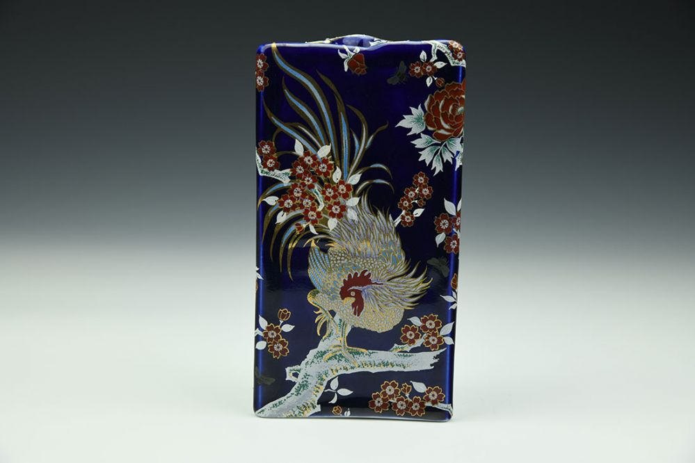 Rooster Triangle Vase