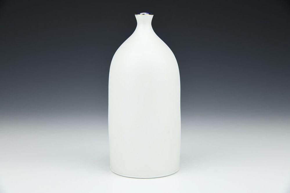 Cobalt Porcelain Bottle