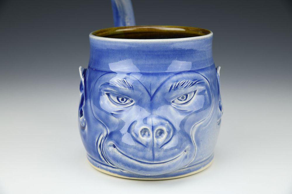 Blue Imp Monkey Mug