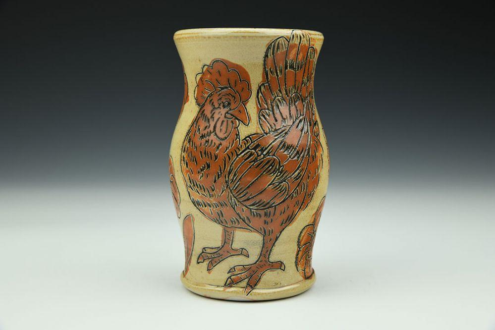 Chicken Vase