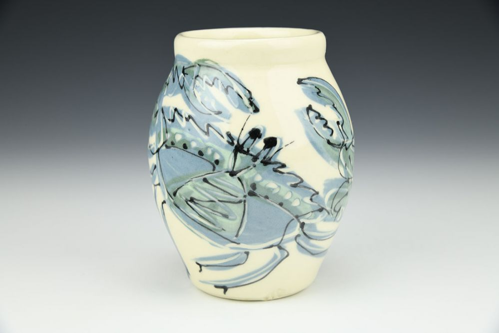 Vase with Crab