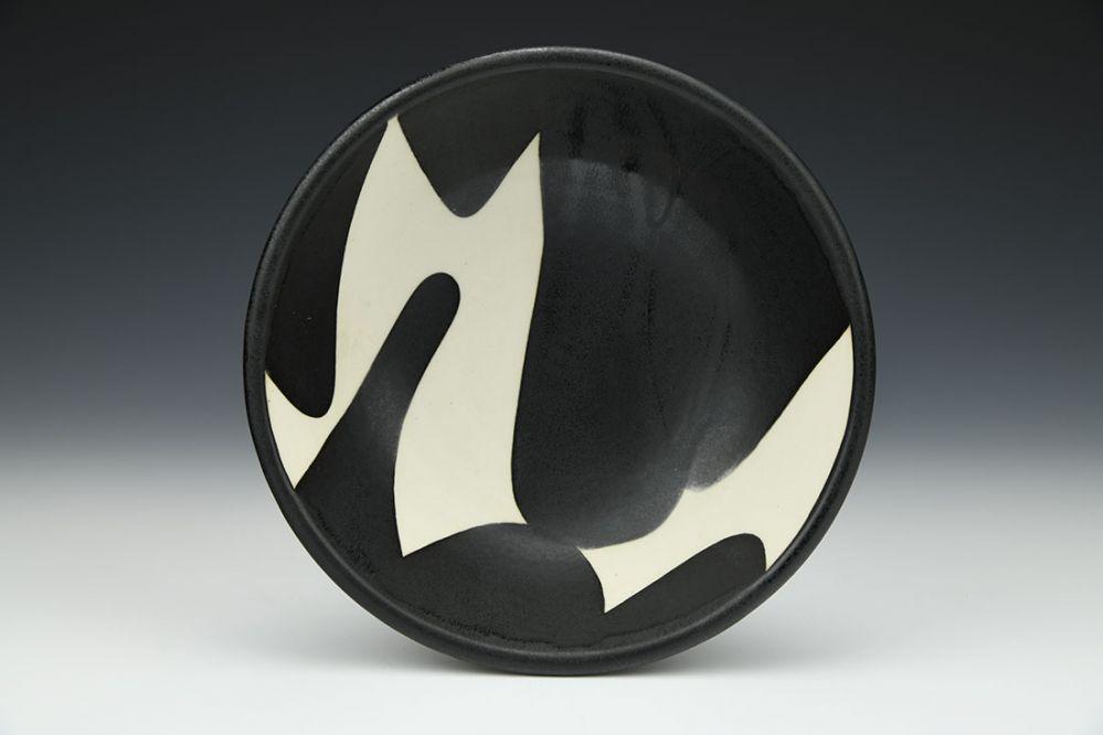 Black and White Soup Bowl