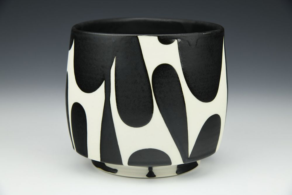 Black and White Triangle Bowl