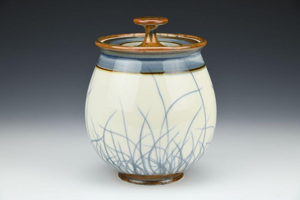 Brushwork Jar and Lid