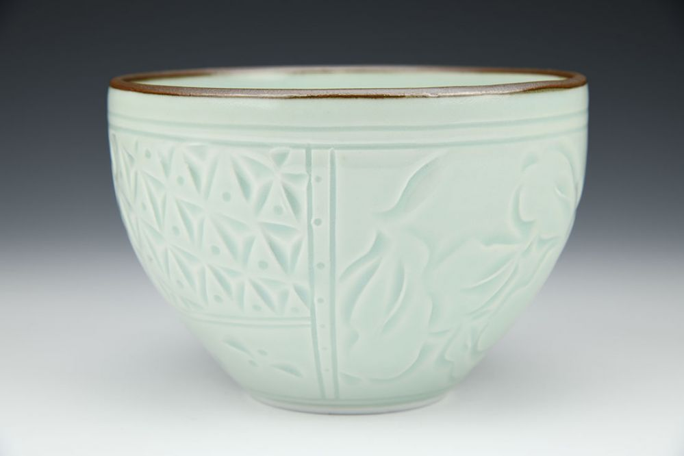 Bowl with Black Porcelain Inlay