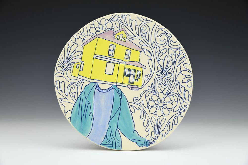Self Portrait: First Day of School Plate