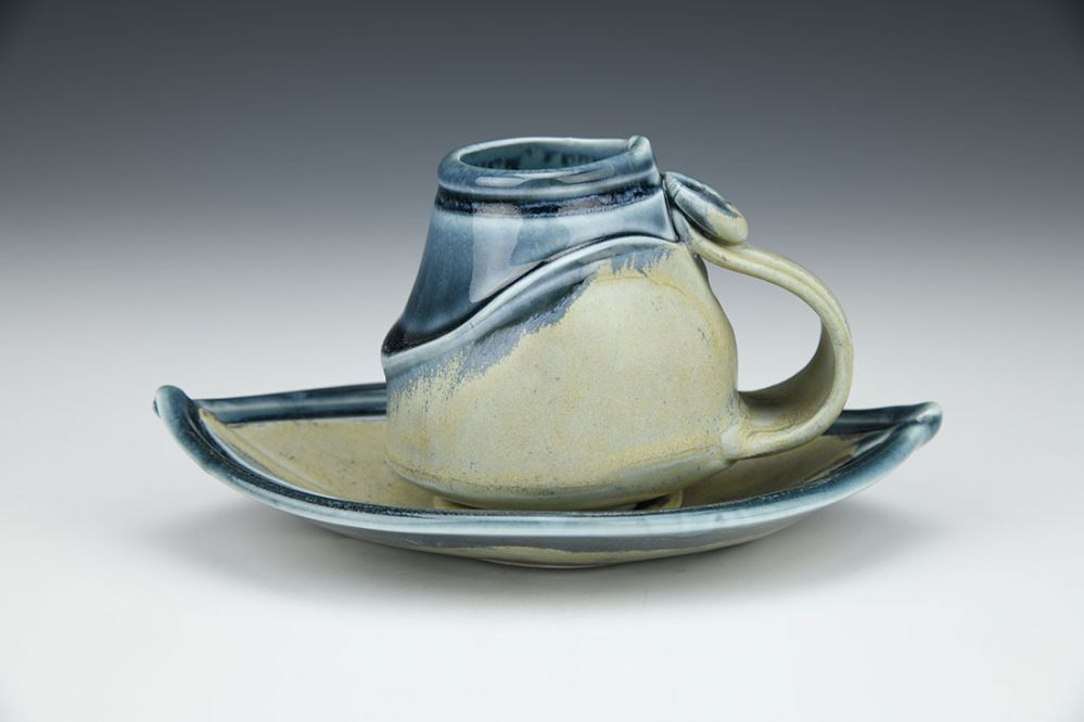 Espresso Cup with Boat Saucer