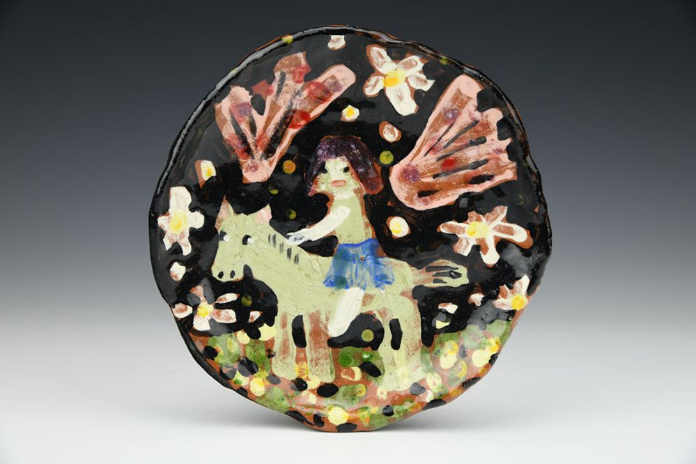 Girl on a Horse Small Plate