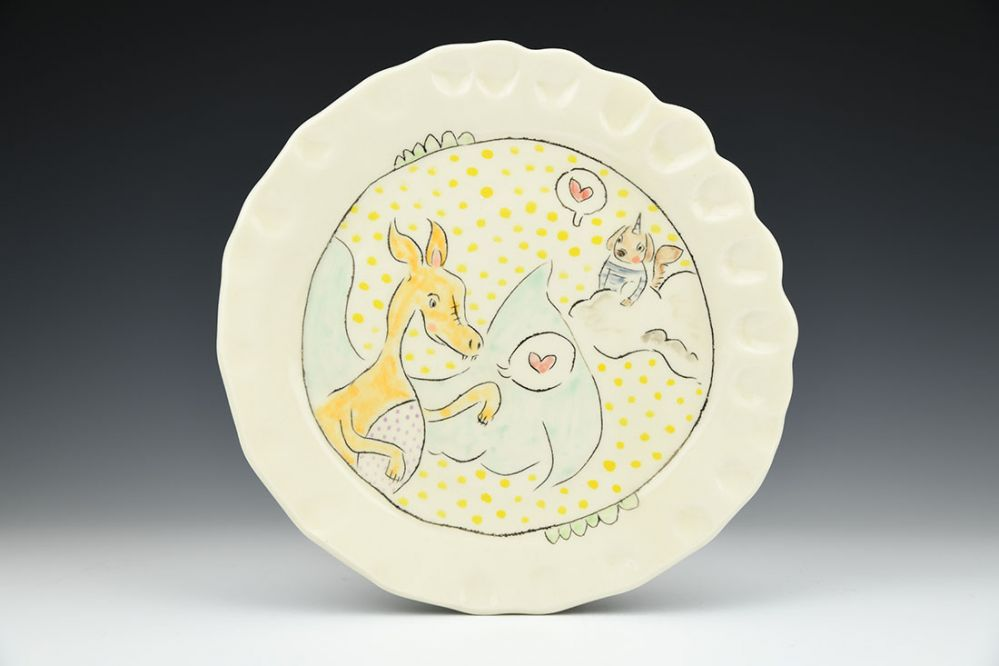 Dragon and Dog Dinner Plate