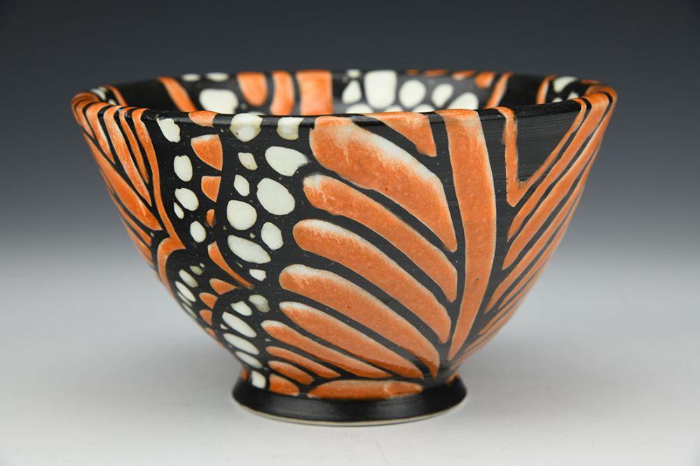 Orange Monarch Cereal Bowl