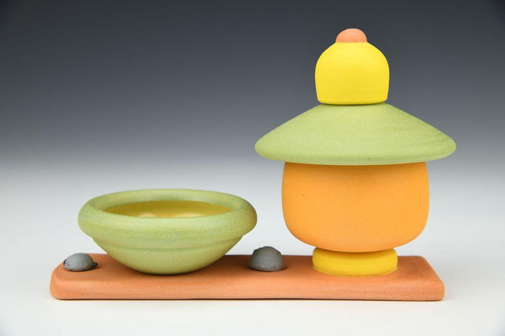 Orange and Green Jar Twosome