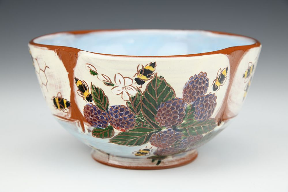 Bees, Berries and Blossom Honeycomb Bowl
