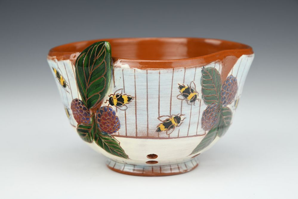 Blackberries and Bees Mini Berry Bowl