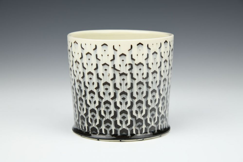 White Cubed Whiskey Cup