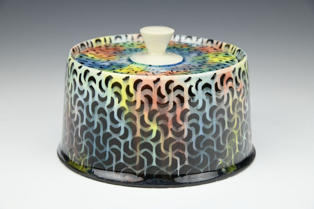 Rainbow Swirls Jar