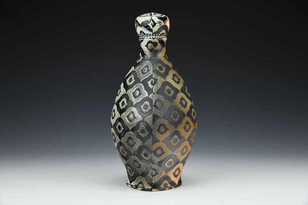 Peacock Bottle with Stopper