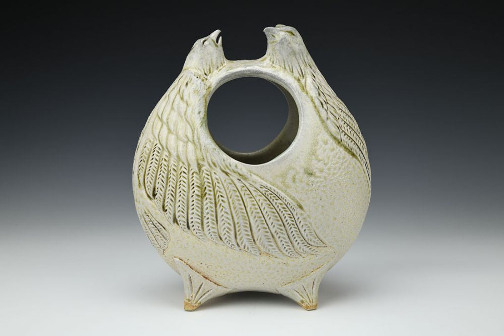 Two Falcons Vase