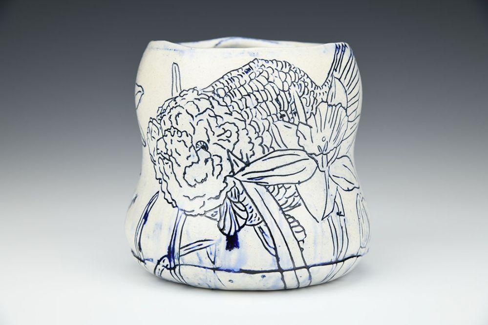 Narcissus and Ranchu Vase
