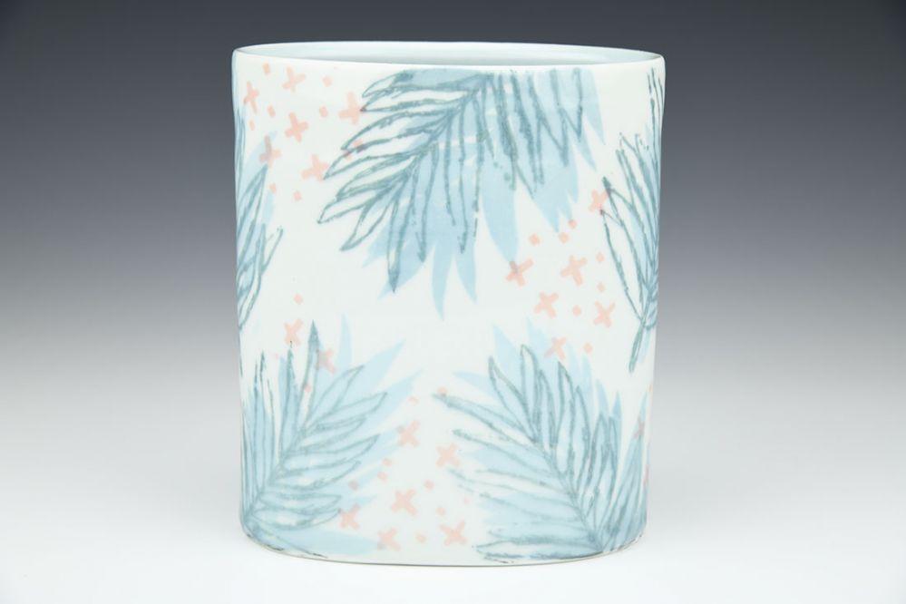 Parlor Palm Oval Vase